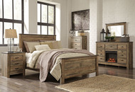 Ashley Trinell Brown 5 Pc. Queen Panel Bed, Dresser, Mirror & Nightstand