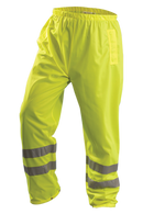 Class E, yellow high Viz pants with breathable fabric