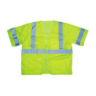 Class 3 Mesh Vest, Lime with Zipper