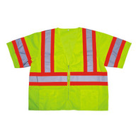 Class 3 Lime Mesh Vest with Contrasting Reflective Tape