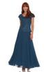 JKARA  Flutter-Sleeve Embellished Popover Dress