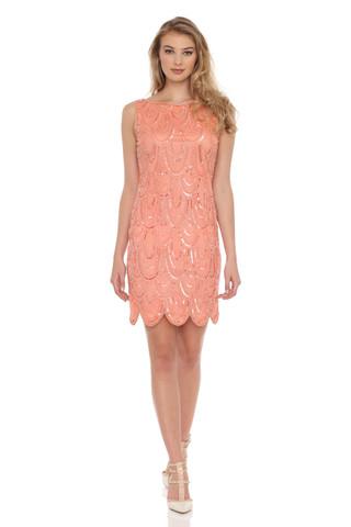 Beaded Scoop Back Dress