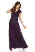 JKARA Sequin Flutter Sleeve Dress