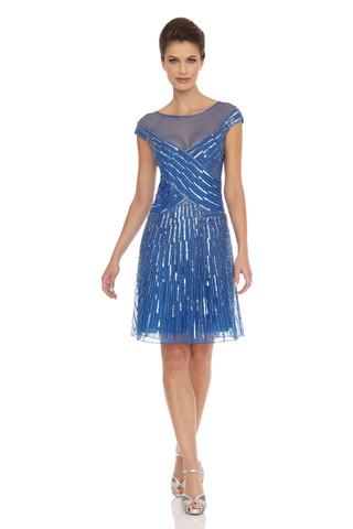 A-Line Sheer Neckline Dress