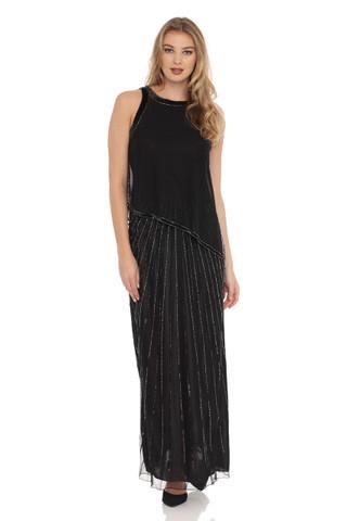 JKARA Beads & Sequins rain down Dress