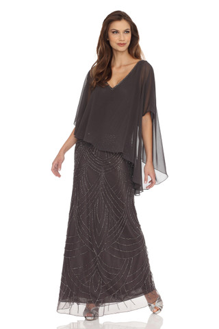 Sheer Capelet popover Dress