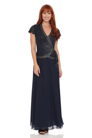 JKARA Beaded-Bodice Dress