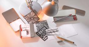 "3.5"" x 3.5"" Hahnemuhle YouTangle.art Tile Cards 25 Tiles"