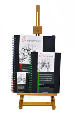 """8.3"""" x 5.8"""" Hahnemuhle Style Sketch Book 120gsm 64 Sheets, Blue Core & Spiral"""