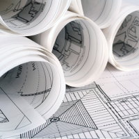 Large format printing plotter bond paper for CAD and architectural line drawings