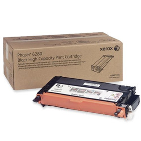 Xerox Brand Black High Capacity Print Cartridge, Phaser 6280