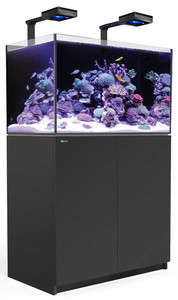 Red Sea Reefer Deluxe Concept 250 Aquarium (Black) 54 Gallons with 2 x ReefLED 90 Light Fixtures