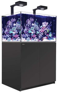 Red Sea Reefer Deluxe XL 300 Aquarium (Black) 80 Gallons with 2 x ReefLED 90 Light Fixtures