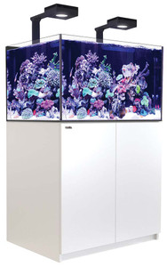 Red Sea Reefer Deluxe XL 300 Aquarium (White) 80 Gallons with 2 x ReefLED 90 Light Fixtures