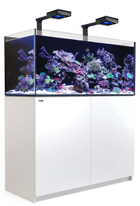 Red Sea Reefer Deluxe XL 425 Aquarium (White) 112 Gallons with 2 x ReefLED 90 Light Fixtures - Red Sea
