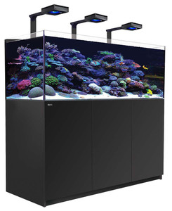 Red Sea Reefer Deluxe XL 525 Aquarium (Black) 139 Gallons with 3 x ReefLED 90 Light Fixtures
