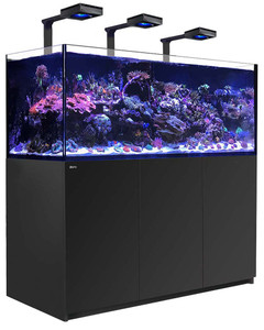 Red Sea Reefer Deluxe XXL 625 Aquarium (Black) 165 Gallons with 3 x ReefLED 90 Light Fixtures