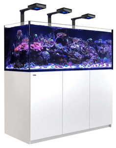 Red Sea Reefer Deluxe XXL 625 Aquarium (White) 165 Gallons with 3 x ReefLED 90 Light Fixtures - Red Sea
