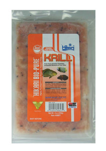 Hikari Bio-Pure Frozen Krill Fish Food Flat Pack 8oz