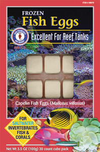 San Francisco Bay Brand Frozen Fish Eggs Fish Food Cubes 3.5oz