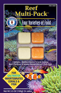 San Francisco Bay Brand Frozen Reef Multi-Pack Fish Food Cubes 3.5oz