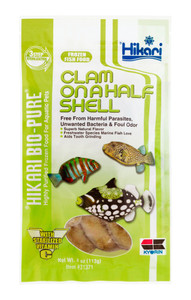 Hikari Bio-Pure Frozen Clam On A Half Shell Fish Food Flat Pack 4oz