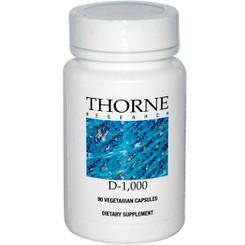 Thorne Research D-1000 90 Veggie Caps