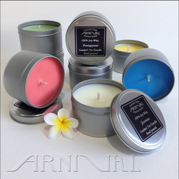 Highly Scented 100% SOY WAX CANDLE - 43 hour burn | Silver Tin with Lid