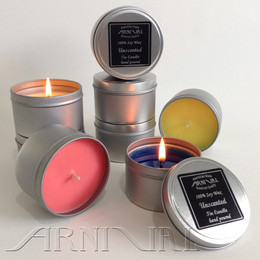 Unscented 100% SOY WAX CANDLE - 43 hour burn | Silver Tin with Lid
