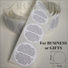 WARNING LABELS for CANDLE MAKING - 50 mm / 2 inch | INSTRUCTION STICKERS for Container, Jar, Tin and Pillar Candles