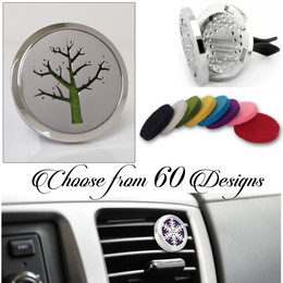 FRAGRANCE & ESSENTIAL OIL DIFFUSER + 8 FREE PADS | Car Air Vent Freshener, Aromatherapy
