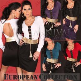 BELT + SHORT DRESS 8 10 12 14 WOMEN EVENING WEAR V COCKTAIL BODYCON PARTY sexy