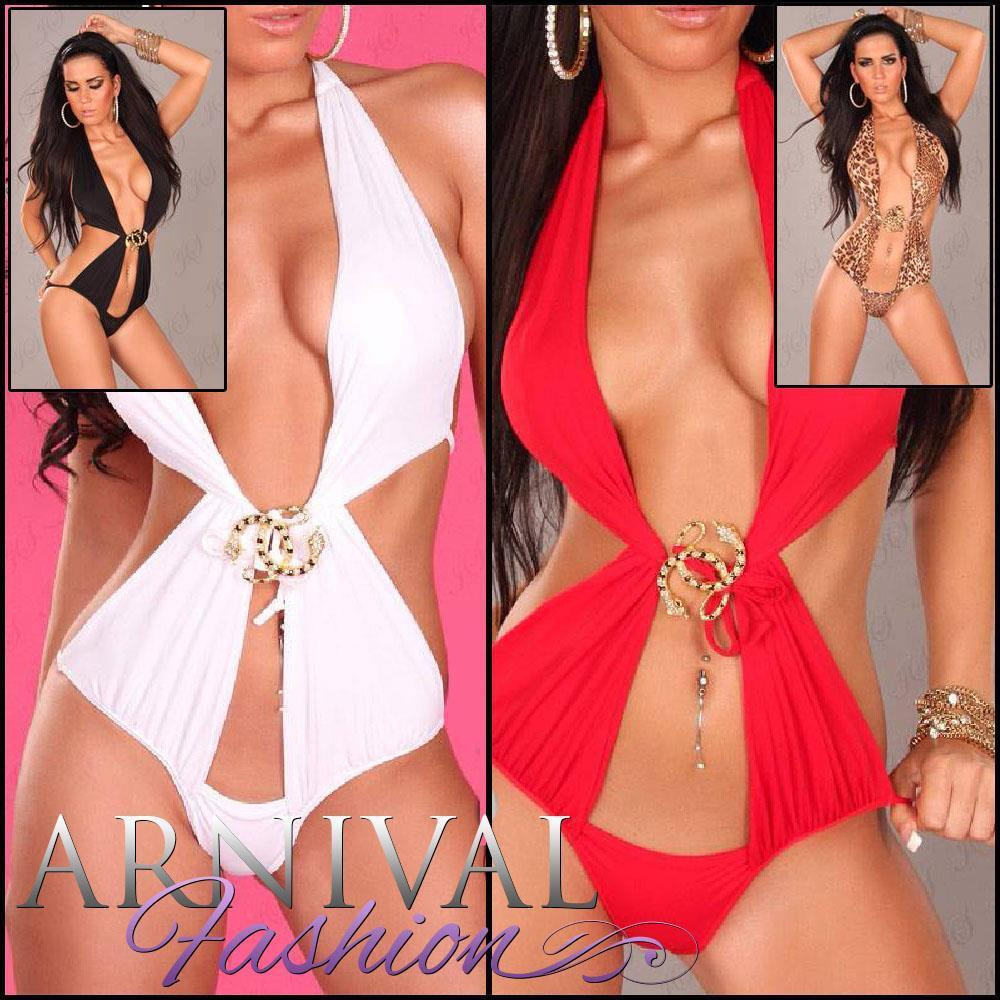 a0687c1b13 Hot PADDED monokini push up BRAZILIAN SWIMWEAR sexy WOMEN BEACHWEAR swimsuit  set - ARNIVAL
