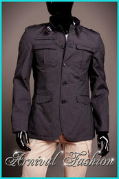 MEN SLIM FIT JACKET CASUAL button COAT OUTWEAR STYLISH top windbreaker overcoat