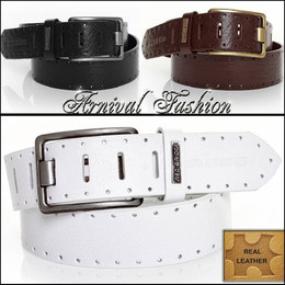 MENS GENUINE LEATHER BELTS for MEN ACCESSORIES FOR JEANS PANTS size S M L BUCKLE