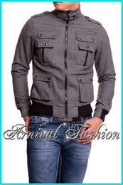 MEN SLIM FIT JACKET CASUAL SHORT MENS COAT OUTWEAR STYLISH tops windbreaker WARM