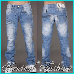 MENS BLUE JEANS PANTS CASUAL DENIM PANTS slim fit straight TROUSERS MEN 30 31 S