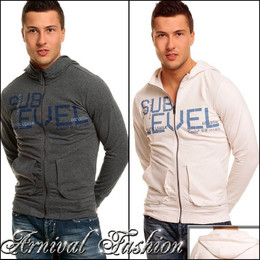 MENS hoodie cardigan SWEATSHIRT jacket MEN SWEATER jumper CASUAL PULLOVER TOP S