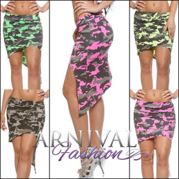 SEXY CAMO PRINT SKIRT SUMMER XS S M L WOMENS CASUAL short ADULTS DRESS BEACH AU