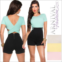 PADDED SHORT OVERALL sexy WOMEN JUMPSUIT ROMPER PLAYSUIT PANTS TOP au seller HOT