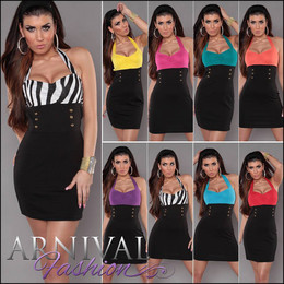 MINI DRESS PARTY women BLACK EVENING SHORT COCKTAIL bodycon casual slim sexy AU