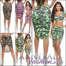 SEXY CAMO PRINT WRAP SKIRT SUMMER XS S M L WOMENS CASUAL short ADULTS DRESS AU