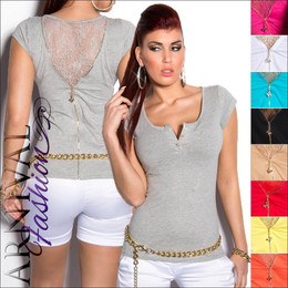 SEXY LADIES CASUAL TOPS XS S M L HOT SHORT SLEEVE SHIRTS 6 8 10 12 lacy top girl