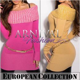 SEXY LONG SLEEVE JUMPER DRESS off shoulder knitted top SWEATER WOMEN S M L XL au