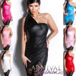 SEXY MINI DRESS sz 6 8 10 BODYCON PARTY SHOULDER DRESSES COCKTAIL EVENING WOMEN