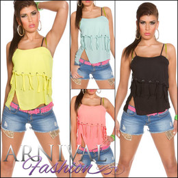 SEXY LOOSE SLEEVELESS STRAPPY TOP blouse XS S M L WOMENS CASUAL SUMMER SHIRT AU