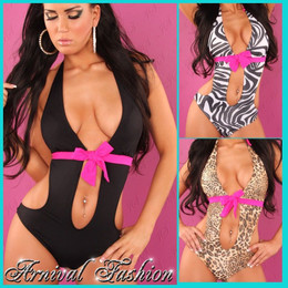 SEXY PUSH UP SWIMWEAR WOMEN MONOKINI padded SWIMSUIT BEACH cheeky bathing suit