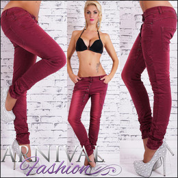 SEXY SKINNY STRETCH JEANS 10 12 14 WOMENS red DENIM HOT PANTS LADIES TROUSERS AU