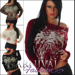 SEXY WOMEN JUMPER long sleeve TOP SWEATER casual pullover LADIES KNITTED SHIRT