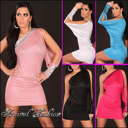 SEXY WOMEN PARTY SHORT MINI DRESS 8 10 12 LADIES BODYCON EVENING COCKTAIL S M L